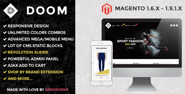 ARW Doom – Modern fashion responsive magento theme