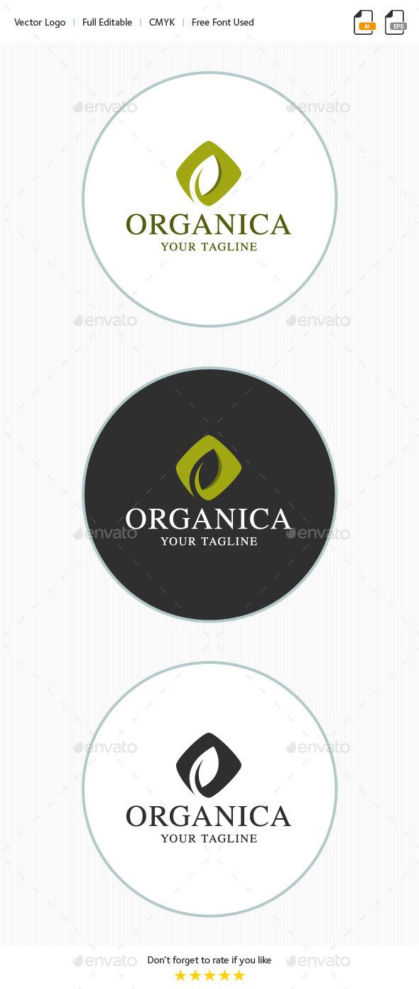 Organica - Leaf Logo - Nature Logo Templates