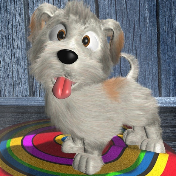 Cartoon Dog Rigged - 3DOcean Item for Sale