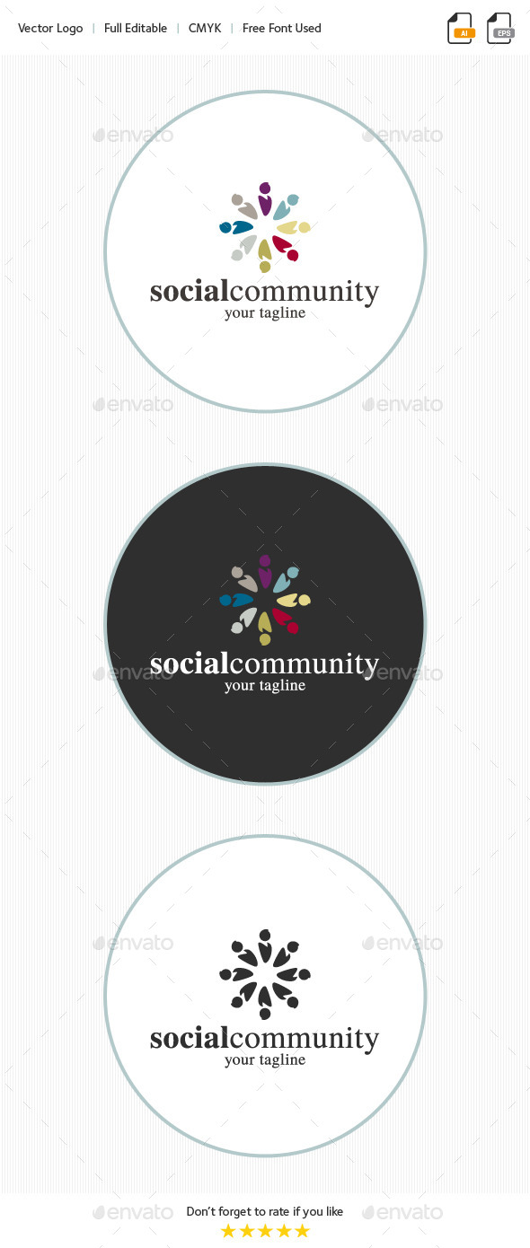 Social Community Logo - Abstract Logo Templates