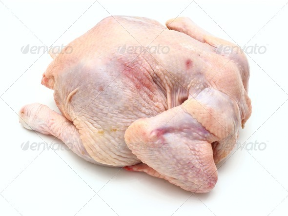 Carcass of the whole chicken - Stock Photo - Images