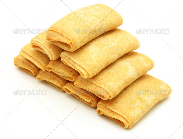 fried pancakes stuffed is - Stock Photo - Images