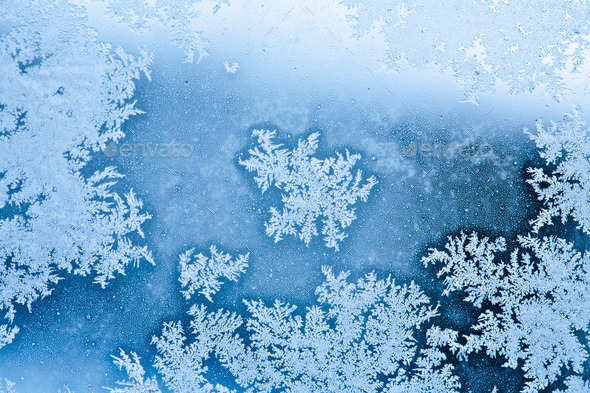 winter rime background - Stock Photo - Images