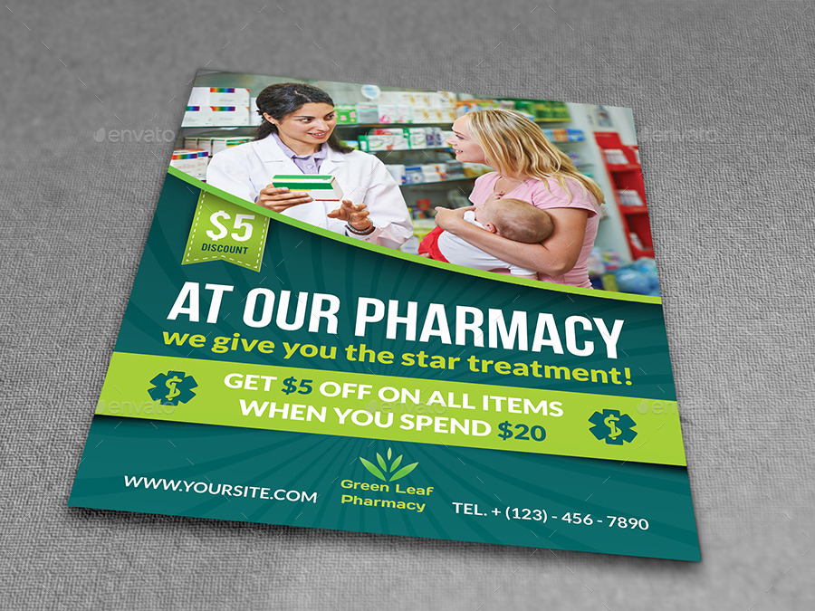 Pharmacy Flyer Template Vol3 By Owpictures Graphicriver