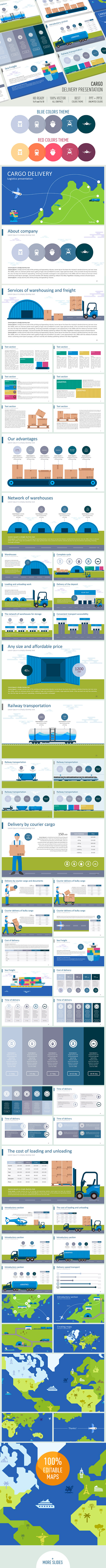 Cargo delivery Presentation - Business PowerPoint Templates