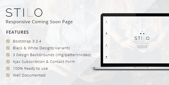 Stilo – Responsive Coming Soon Page