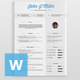 Resume II - GraphicRiver Item for Sale