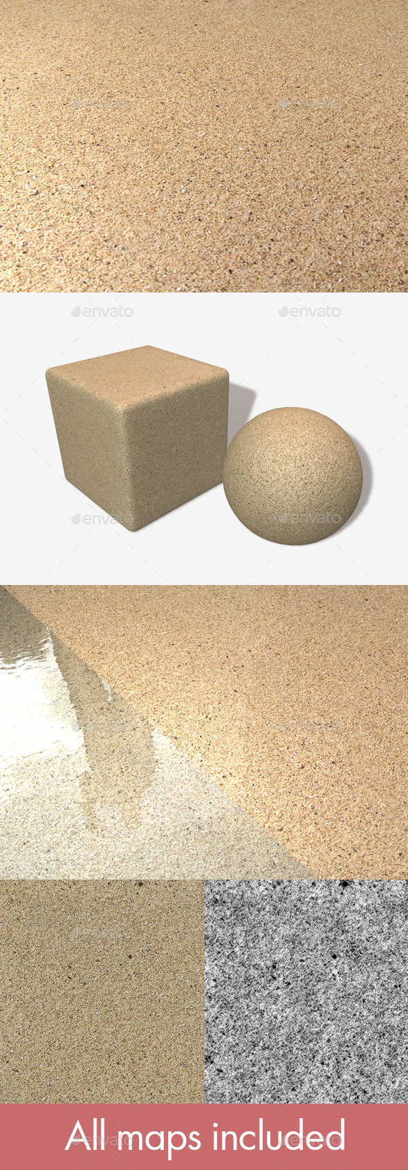 Sand Seamless Texture - 3DOcean Item for Sale