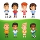 Cartoon International Soccer Players Set - GraphicRiver Item for Sale