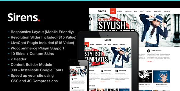 Sirens Multi-Purpose Stylish Business Theme