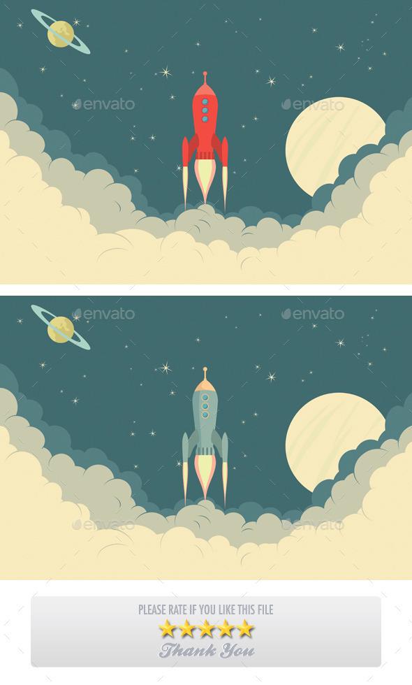 Retro Rocket Spaceship - Retro Technology
