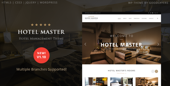 Hotel Master – Hotel Booking WordPress Theme