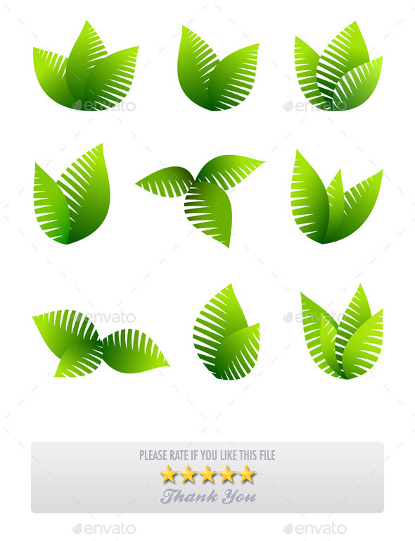 Growing Leafs Symbols Icons - Flowers & Plants Nature