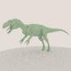 medium poly allosaurus dinosaur model - 3DOcean Item for Sale