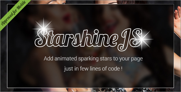 StarshineJS - SVG Animated Sparkling Stars HTML Effect - CodeCanyon Item for Sale