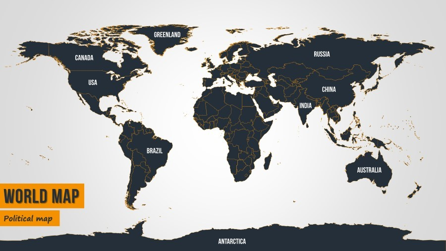 high detail world map for powerpoint