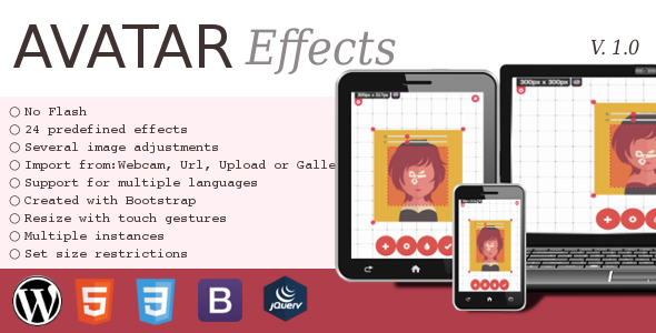 Avatar Effects Responsive HTML5 Image Picker - CodeCanyon Item for Sale