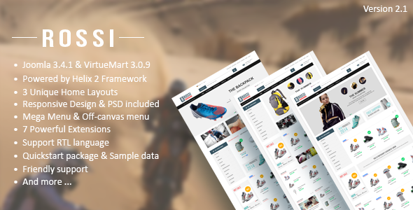 Vina Rossi :: Clean Joomla & VirtueMart 3 Template
