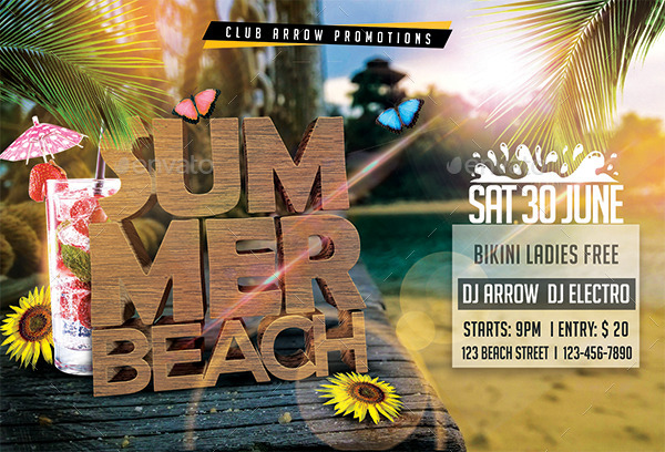 Summer Beach Party Flyer Template By Arrow3000 | Graphicriver