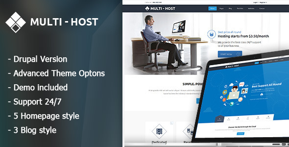 Multi Host – Responsive Hosting Drupal Theme