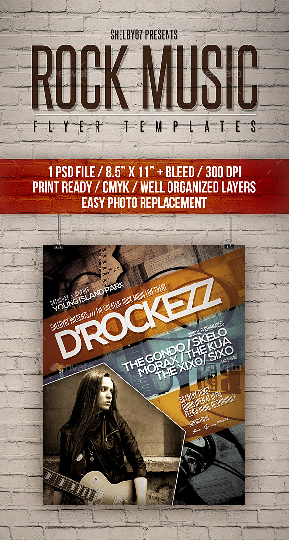 Rock Music Flyer Templates - Events Flyers