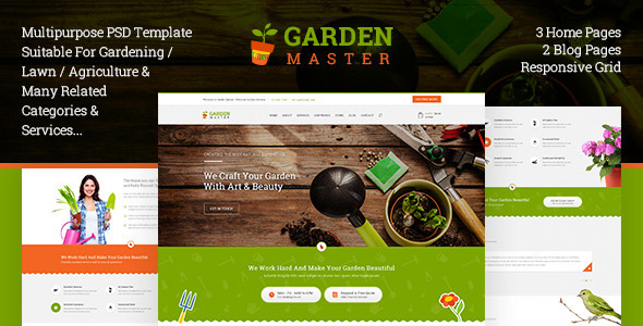 Garden Master – PSD Templates