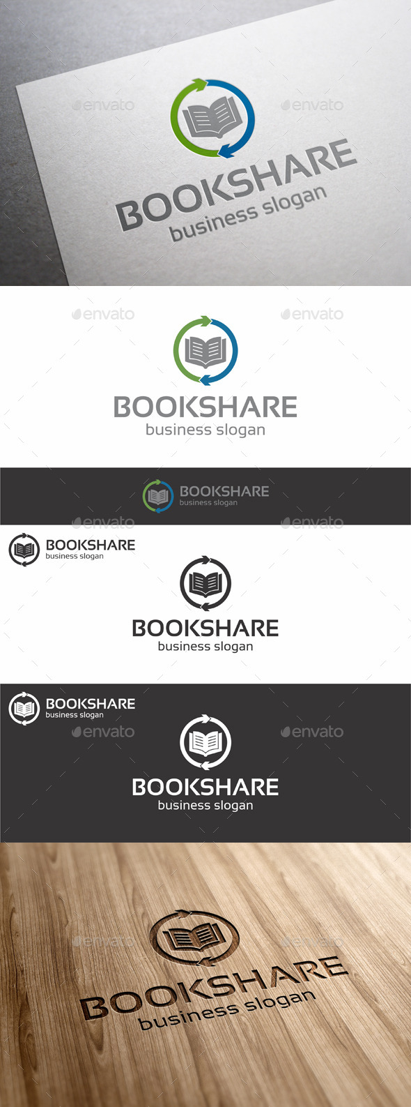 Book Share Logo Template