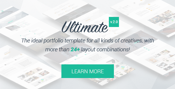 Ultimate – One Page HTML5 Portfolio Template