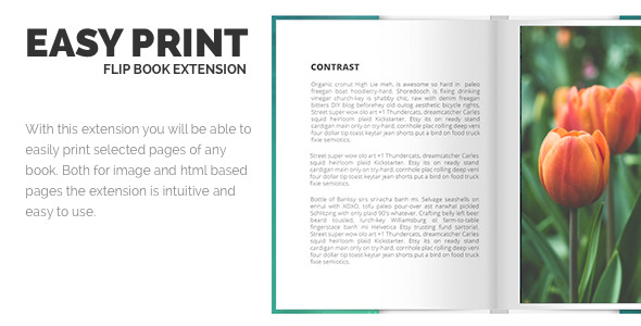Print FlipBook Extension - CodeCanyon Item for Sale