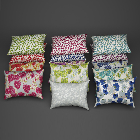 Pillows 03 - 3DOcean Item for Sale