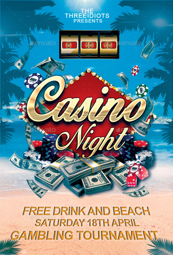 Summer Casino Flyer By Threeidiots Graphicriver