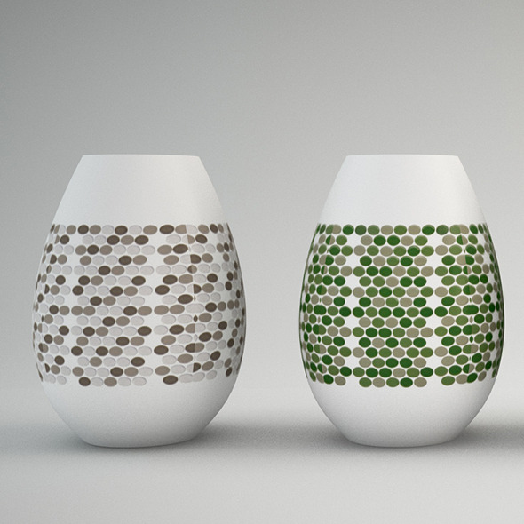 Vase polka dots - 3DOcean Item for Sale