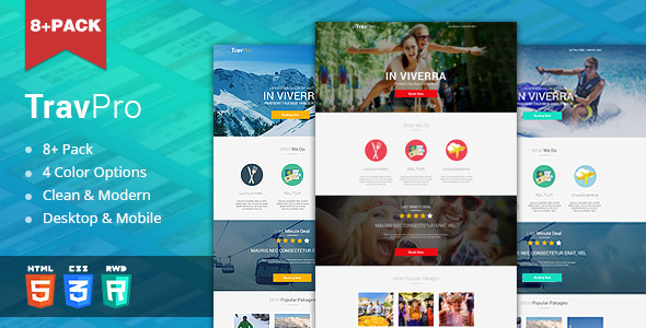 TravelPro - Travel Landing Page (HTML5)