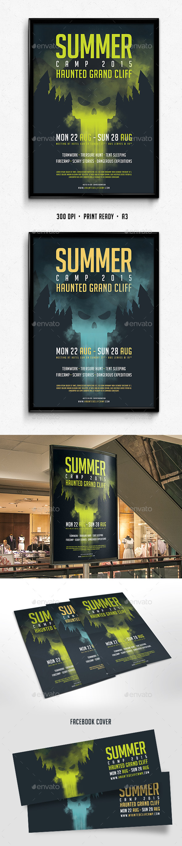 Camp Poster - Flyers Print Templates