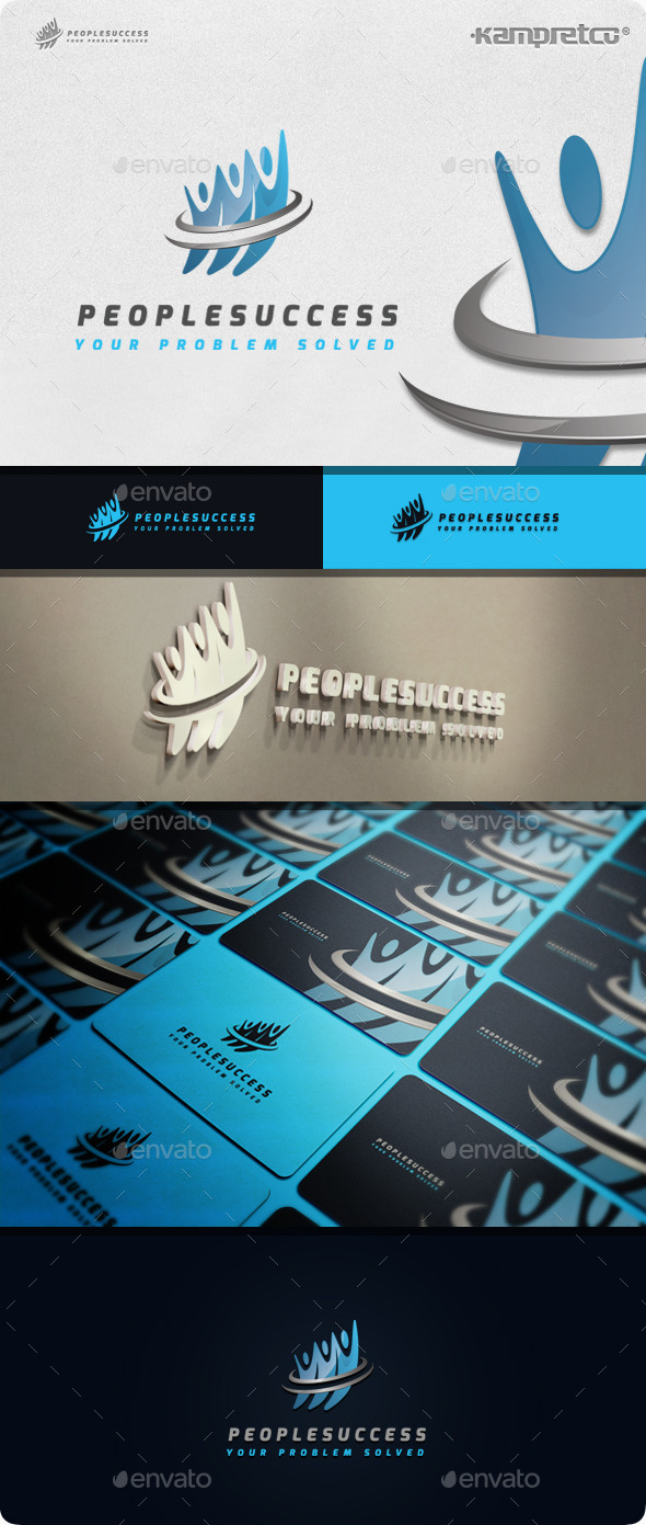 People Success Logo - Vector Abstract