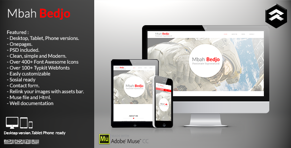 Mbah Bedjo – CV Resume Muse Template