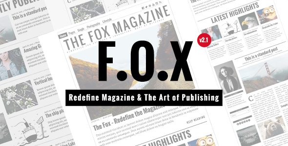 The Fox – Contemporary Magazine Theme for Creators