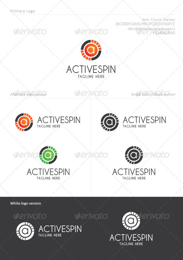 Active Spin - Letters Logo Templates