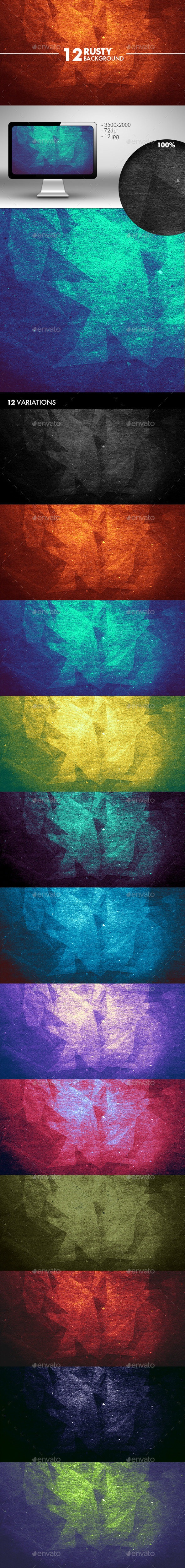 Grunge Polygon Background - Abstract Backgrounds