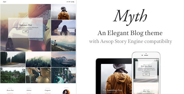 Myth – An Elegant Storytelling WordPress Blog Theme