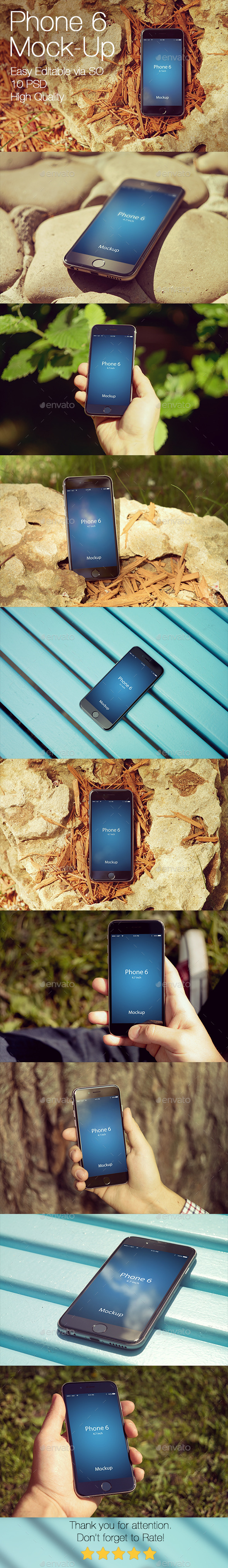 Phone 6 Mockup v3 - Mobile Displays