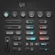 Brushed Metal Dark UI - GraphicRiver Item for Sale