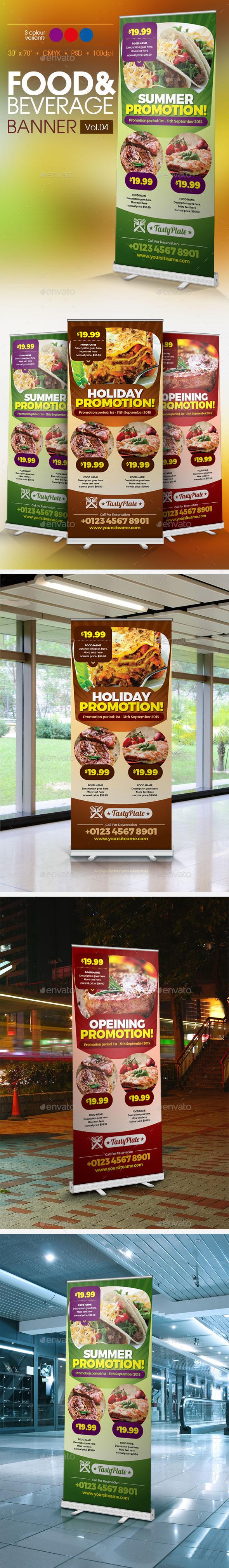 Restaurant Banner Vol.4 - Signage Print Templates