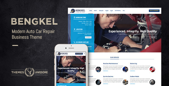 Bengkel – Modern Auto Car Repair Business Theme