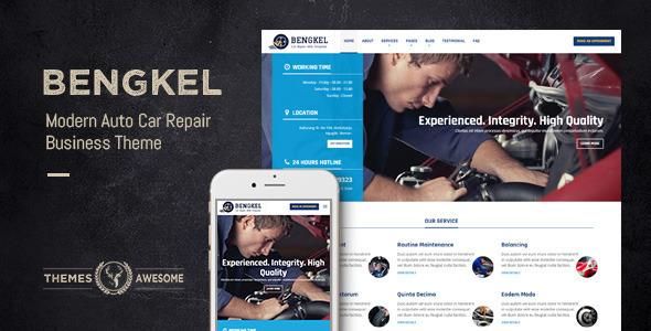 Bengkel – Modern Auto Car Repair Business Theme