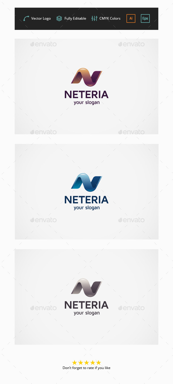 Neteria - Letter N - Letters Logo Templates