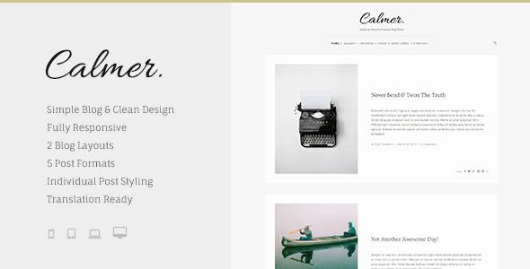 Calmer – Responsive Personal Blog Theme