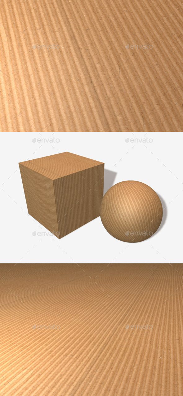 Ribbed Cardboard Seamless Texture - 3DOcean Item for Sale