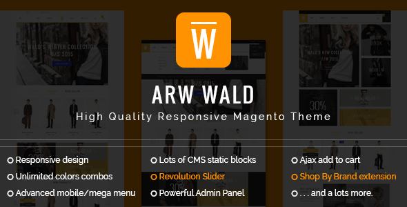ARW Wald Magento Theme - Fashion Magento