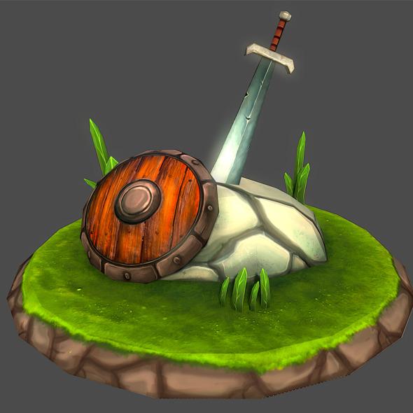 Sword & Shield / Game Assets - 3DOcean Item for Sale